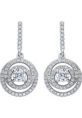 CHRIST Silver Damen-Ohrhänger 925er Silber 114 Zirkonia One Size, silber -