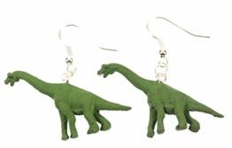 Dinosaurier Brachiosaurus Ohrringe Dino Miniblings Gummi Pflanzenfresser grün -