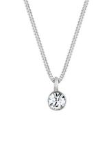 Elli Damen-Kette mit Anhänger Kristall 925 Sterling Silber Swarovski Kristall weiß -