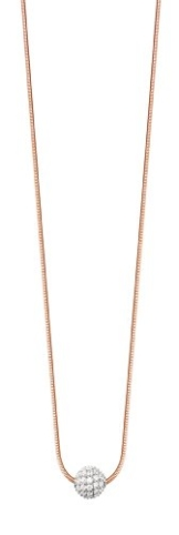 Esprit Jewels Damen-Halskette 925 Sterling Silber Glam sphere rose app.40+3cm ESNL92604B400 -