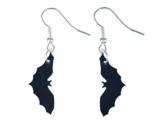 Fledermaus Ohrringe Hänger Miniblings Halloween Vampir Bat Plexiglas schwz -