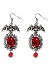 Gothic Ohrringe Fledermaus für Damen Halloween -