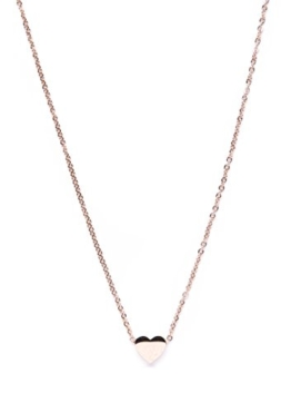 Happiness Boutique Damen Kette mit Anhänger Rosegold | Titan Halskette Modeschmuck Frauen Mädchen nickelfrei -