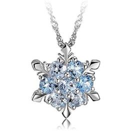 Hosaire Ketten Damen Halskette Mode Fünfzackiger Kristall Necklace Anhänger Kette(1X) -
