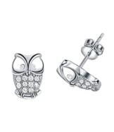 Ijewellery Ohrringe Weißgold Überzogen Österreich Kristall Stilvolle Nette Eule Form Ohrringe Valentinstag ist ein Tag Geschenk Stecker für Damen -