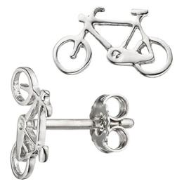 JOBO Kinder Ohrstecker Fahrrad Bike 925 Sterling Silber Ohrringe Kinderohrringe -