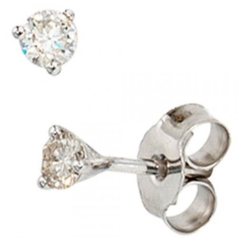 JOBO Ohrstecker 585 Weißgold 2 Diamant-Brillanten 0,25ct. Gold-Ohrringe -