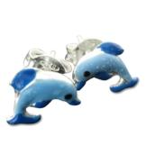 Kinderohrringe Delphin Ohrstecker In 925 Silber Delfin Ohrringe Blau -