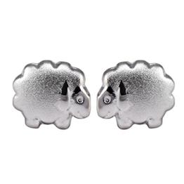 Kinderohrstecker Schaf Ohrringe Kinder Schafe Silber Ohrschmuck -