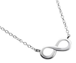 Laimons Damen-Halskette Unendlichkeit Symbol glanz zierliche 45cm Kette Sterling Silber 925 -