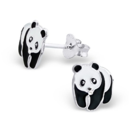 Laimons Kinder-Ohrstecker Kinderschmuck Panda-Bär Sterling Silber 925 -