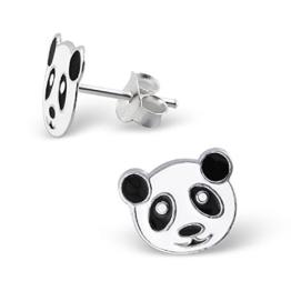 Laimons Kinder-Ohrstecker Panda-Bär Sterling Silber 925 -