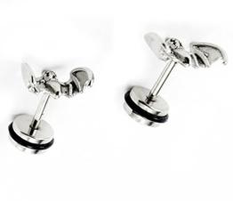 lilments 3D Fledermaus hypoallergenem Edelstahl Ohrstecker Schraube Cheater Plugs Ohrringe -