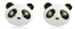 Lovely Lauri Ohrringe Panda Bär mit Strass -