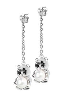 "Morellato Damen-Ohrringe Edestahl mit Anhänger ""Panda"" Animalia SKP19 -"
