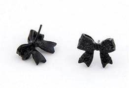 Ohrring Schleife Schleifenohrring Ohrhänger mit Schleife Farbe schwarz von DesiDo® -