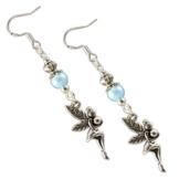 Ohrringe der Lichtfee hellblau by Katharina Fairytale Ohrhaken aus 925er Sterling Silber -