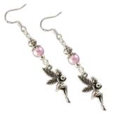 Ohrringe der Lichtfee rosa by Katharina Fairytale Ohrhaken aus 925er Sterling Silber -