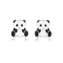 Ohrringe für Mädchen mit gepiercten Ohren, inkl. Geschenkbeutel, Panda-Motiv -