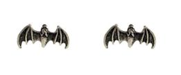 Ohrstecker silberfarben Fledermaus-Ohrringe im Organzasäckchen -