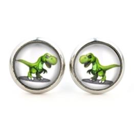 """Ohrstecker """"T-Rex"""" von SCHMUCKZUCKER® Ohrringe silberfarben Dino (12mm) -"""