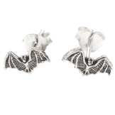 Sterling Silber Fledermaus Design Ohrstecker Ohrringe mit oxidierte Details -