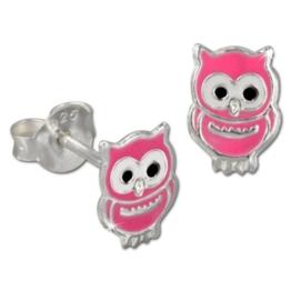 Tee-Wee Kinder Ohrring Eule rosa 925 Sterling Silber Kinderohrstecker Kinderschmuck SDO8101P -