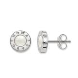 Thomas Sabo Damen-Ohrstecker Glam & Soul 925 Silber Perlmutt weiß 1.7 cm - H1859-029-14 -