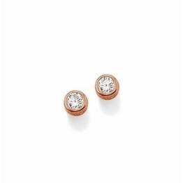 Thomas Sabo Glam & Soul Ohrstecker Silber rosévergoldet mit weißem Zirkonia 6 mm H1663-416-14 -
