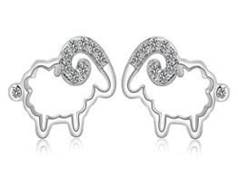 Unendlich U 925 Sterling Silber Kubische Zirkonia Süßes Schaf-Ohrstecker Ohrringe für Damen/Mädchen -