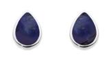 Dew Damen-Ohrringe 925 Silber Lapis Lazuli Blau Tropfenschliff - 3061LP -
