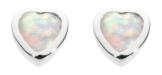 DEW Damen-Ohrstecker 925 Silber Opal Changierend - 3035SO -