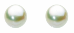 Dew Damen-Ohrstecker 925 Silber Perle Weiß Süßwasserperlen Weiß - 38298FP010 -