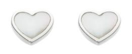 Dew Damen-Ohrstecker 925 Sterling Silber Perlmutt weiß 3062MP -