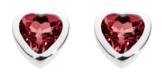 Dew Damen-Ohrstecker Silber Granat rot 3035GT -