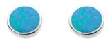 Dew Damen-Ohrstecker Silber Opal blau 3060BSO -