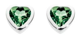 Dew Damen-Ohrstecker Silber Spinell grün 3035GS -