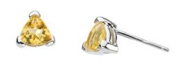 Dew Damen-Ohrstecker Sterling-Silber 925 Dreieck -