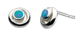Dew Damen-Ohrstecker Sterling-Silber 925 Spiralform -