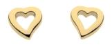 Dew Damen-Ohrstecker, Sterling-Silber 925, vergoldet, Herzform -