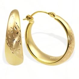 Goldmaid Damen-Creolen 333 Gelbgold Pr O4332GG -