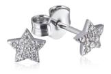 Goldmaid Damen-Ohrstecker 14 Karat (585) Weißgold Starshine 22 Diamanten SI/H 0,12 ct. -
