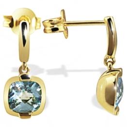 Goldmaid Damen-Ohrstecker 333 Gelbgold 2 hellblaue Topas -