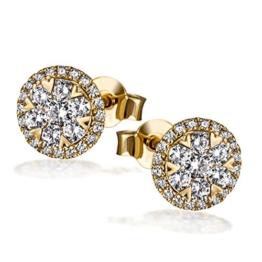 Goldmaid Damen-Ohrstecker 585 Gelbgold Diamant (0.70 ct) weiß Brillantschliff-Pa O7694GG -