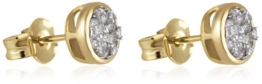Goldmaid Damen-Ohrstecker Glamour 585 Gelbgold 26 Brillanten 0,33 ct. Pa O5733GG -