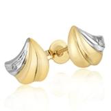 Goldmaid Damen-Ohrstecker Muschel 375 Gelbgold 2 Diamanten 001 ct. Pr O4317GG -