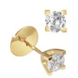 Goldmaid Damen-Ohrstecker Solitär 4 Stotzen 585 Gelbgold 2 Brillanten Lupenrein weiß 1,00 ct. Inkl. externer Expertisen So O4165GGL -