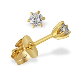 Goldmaid Damen Ohrstecker Solitär 6er-Stotzen 333 Gelbgold 2 Brillanten 0,15 ct. -