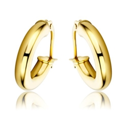 Miore Damen-Creolen 375 Gelbgold -