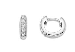 Miore Damen-Creolen 925 Sterling Silber Cubic Zirkonia 925 Silber rhodiniert weiß Rundschliff -